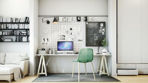 25 потрясающих рабочих кабинетов в скандинавском стиле