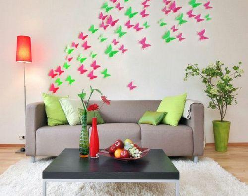 Бабочки на стену своими руками: 7...</a></li> <li>Роль бабочек в интерьере</li> <li>Гармония с дизайном</li> <li>Предварительные действия</li> <li>Бабочки на стену своими руками. 7 способов декорирования: <ul class=