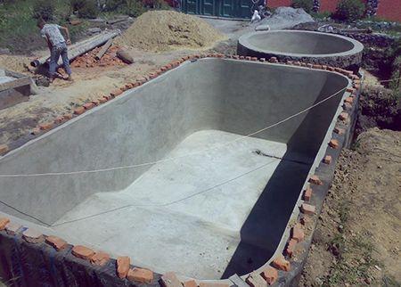 Бассейн из бетона своими руками: технология строительства