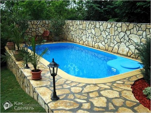 Бетонный бассейн своими руками - бассейн из бетона  фото