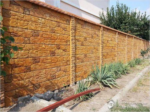 Бетонный забор своими руками - изготовление бетонного забора