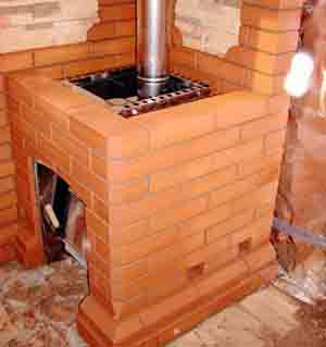 Чем обложить печь в бане