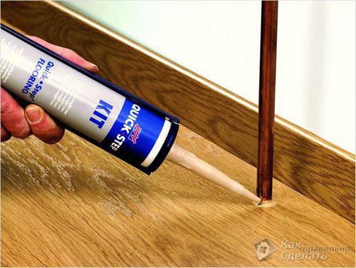 Чем закрыть стыки ламината - обработка стыков
