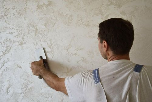 Декоративная штукатурка потолка: фото отделки своими руками, видео и цена фактурной