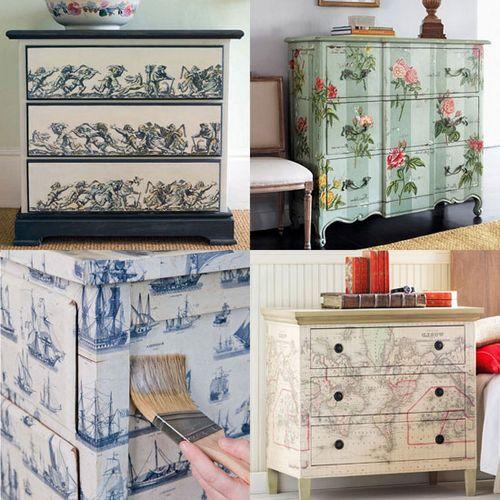 Декупаж мебели своими руками: идеи и мастер-классы