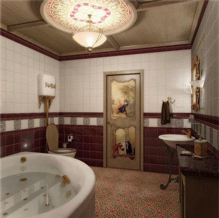 Декупаж на двери ванной своими руками и другие способы декорирования