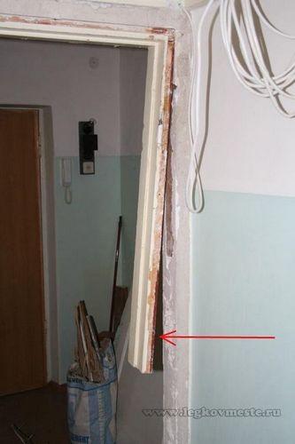 Демонтируем межкомнатную дверную коробку