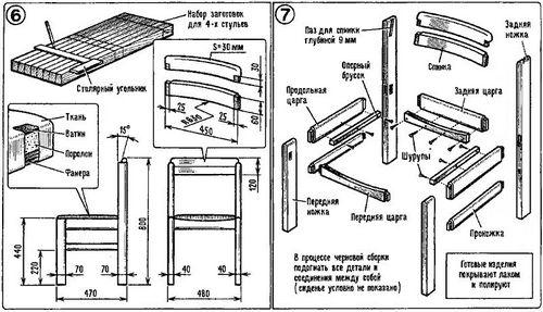 Деревянная мебель своими руками: этапы работ с фото
