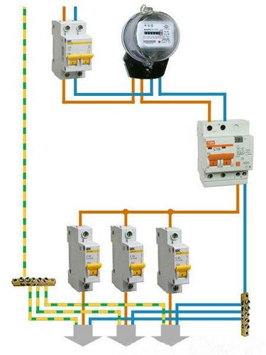 Дифференциальный автоматический выключатель: схема для распространенных электросетей