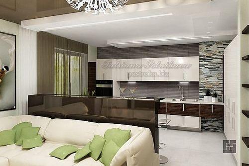 Дизайн-проект кухни, совмещённой с гостиной - идеи на фото