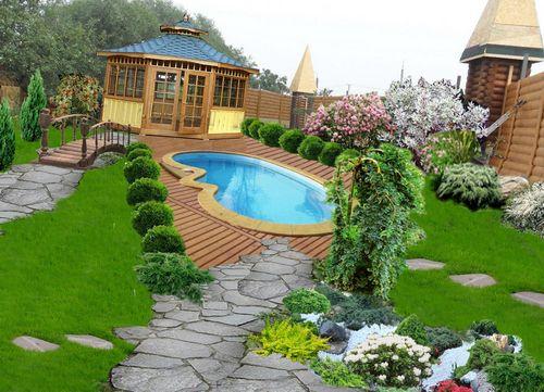 Дизайн участка с бассейном: особенности ландшафтного дизайна