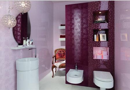 Дизайн ванной в сиреневом цвете: нюансы использования оттенка в различных интерьерах
