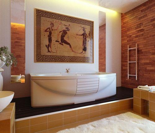 Дизайн ванны в греческом стиле: секреты изысканной простоты