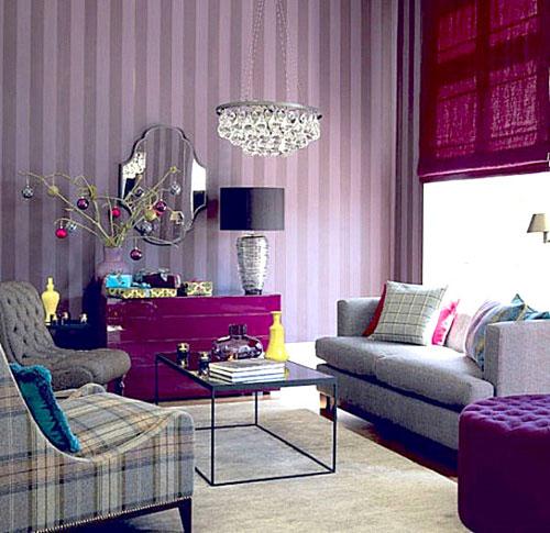 Фиолетовый и желтый в интерьере: гармоничное сочетание