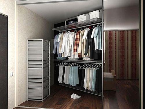 Гардеробная в спальне: обустройство и дизайн интерьера