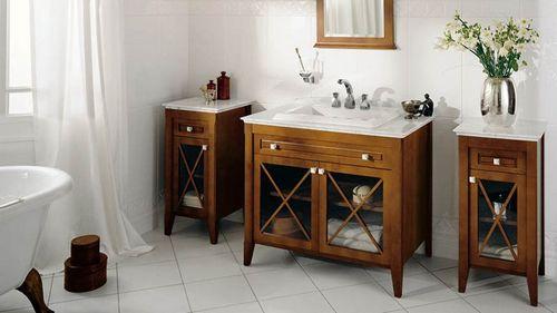 Гарнитур для ванной комнаты: виды и варианты
