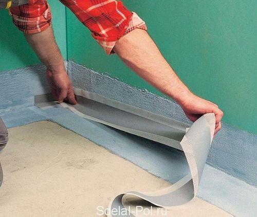 Гидроизоляция пола в ванной комнате своими руками: жидкая и рулонная, устройство и видео