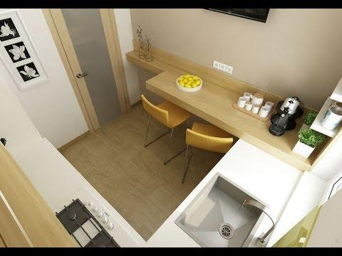 Интерьер маленькой кухни 6 кв м: фото с холодильником