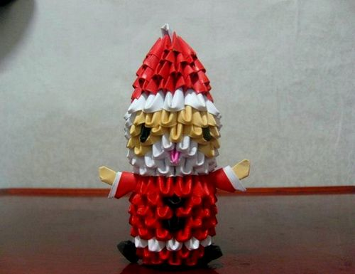 Изготовление модульного Деда мороза с инструкцией и фото
