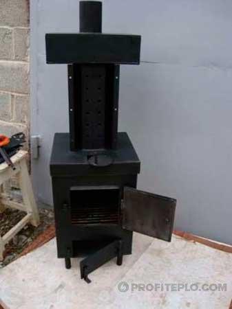 Изготовление печки для отопления гаража