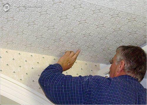 Как клеить виниловые обои на стены и потолок ( фото)