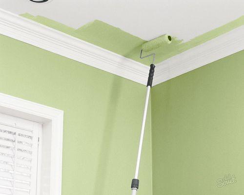 Как красить обои под покраску на потолке водоэмульсионной краской и видео