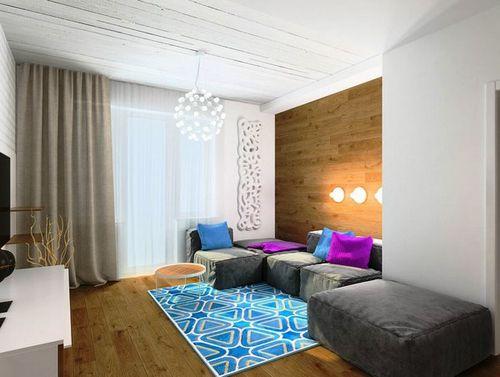 Как красиво поклеить обои в зале: варианты дизайна стен