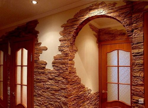 Как отделать арку: декор своими руками (камнем, пластиком, обоями и др.)