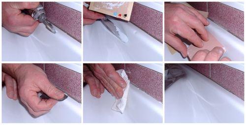 Как отремонтировать скол на ванной: чем заделать лучше?