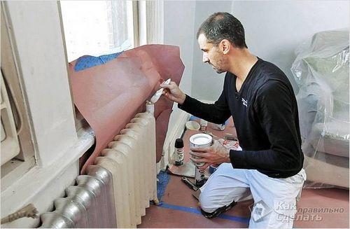 Как покрасить батарею отопления - красим батарею