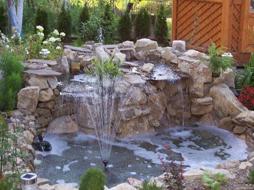 Как построить красивый фонтан на даче своими руками