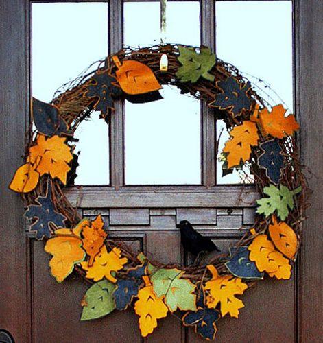 Как сделать осенний венок на двери: декорирование, идеи, фото