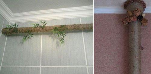 Как спрятать трубы отопления в частном доме: как можно скрыть, закрыть стояк в комнате, скрытые отопительные трубы