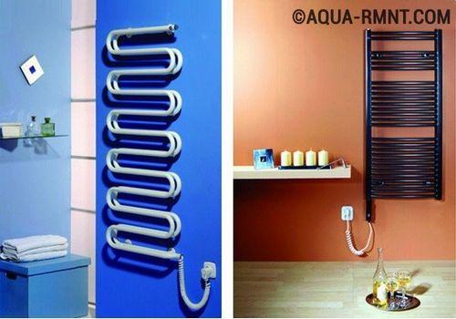Как выбрать электрический полотенцесушитель для ванной   подключение