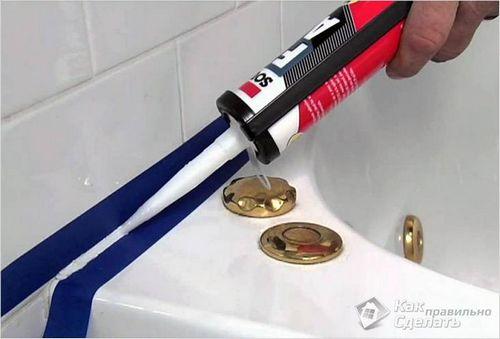 Какой герметик лучше выбрать для ванной комнаты