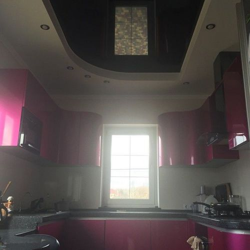 Какой потолок лучше сделать на кухне, 20 фото