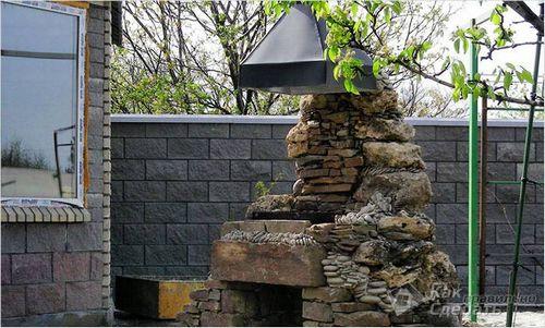 Каменный мангал своими руками - строительство мангала из камня ( фото)