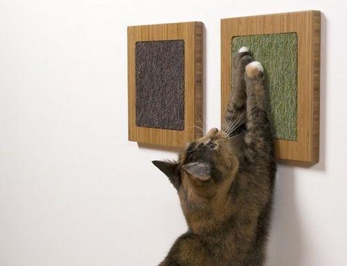 Когтеточка для кошки своими руками: идеи и фотографии