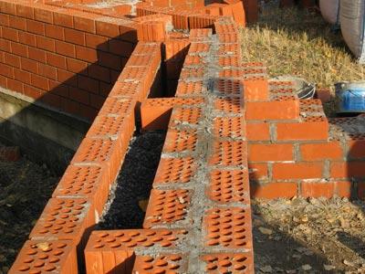 Колодцевая кладка стен из кирпича - применение, особенности, последовательность действий