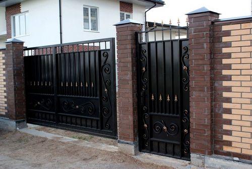 Кованые ворота и калитки. Фото и эскизы для мастеров