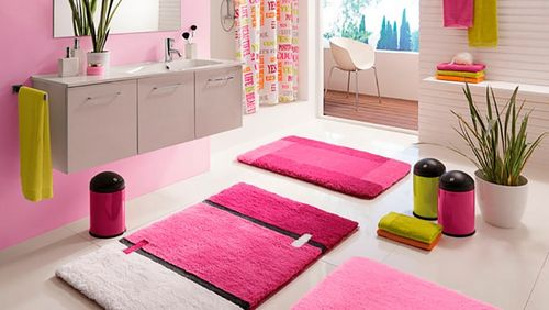 Коврик для ванной комнаты и туалета: фото подборка уюта