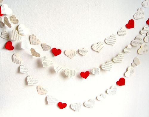 Красивые гирлянды из сердечек своими руками: фото и видео