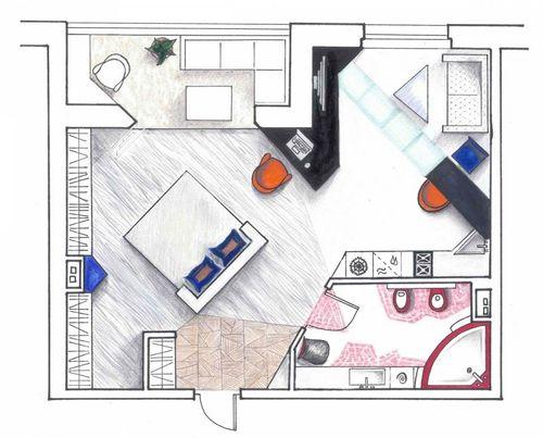 Квартира-студия площадью 20 кв. м: дизайн фото, обустройство