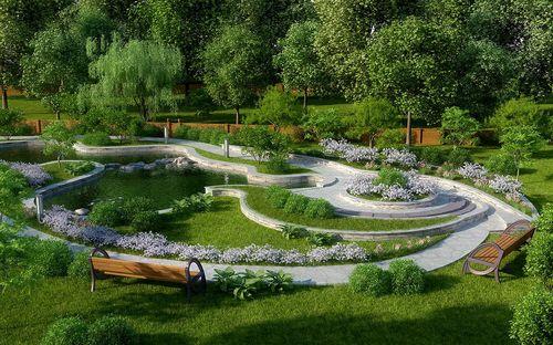 Ландшафтный дизайн дачного участка своими: фото и идеи оформления