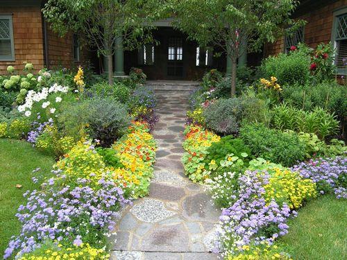 Ландшафтный дизайн перед домом: идеи оформления, фотографии