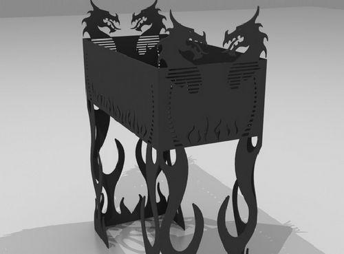 Мангал своими руками из металла: стационарный, переносной