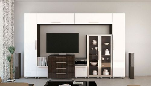 Модульная стенка в гостиную, выбираем современные решения