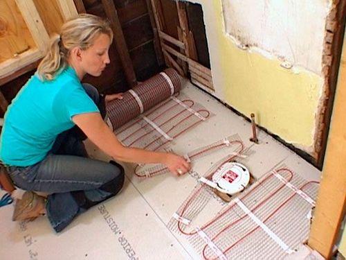 Монтаж электрического теплого пола : пошаговая инструкция