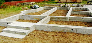Надежный фундамент под дом из бруса (свайно-винтовой)