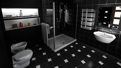 Напольная плитка для ванной: фото дизайна